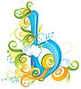 Vector clipart: Decorative letter B