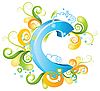 Vector clipart: Decorative letter C