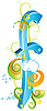 Vector clipart: Decorative letter