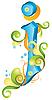 Vector clipart: Decorative letter J