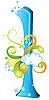 Vector clipart: Decorative letter L