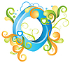 Vector clipart: Decorative letter O