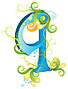 Vector clipart: Decorative letter Q