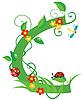 Векторный клипарт: Декоративная цветочная буквица C