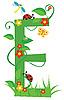 Vector clipart: Decorative flower letter E