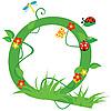 Векторный клипарт: Декоративная цветочная буквица Q
