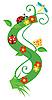 Vector clipart: Decorative flower letter S