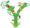Векторный клипарт: Декоративная цветочная буквица Y