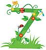 Векторный клипарт: Декоративная цветочная буквица Z