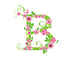 Vector clipart: Decorative letter B with roses