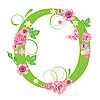 Vector clipart: Decorative letter O with roses