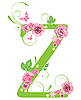 Vector clipart: Decorative letter Z with roses