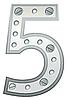 Векторный клипарт: Металлическая цифра пять