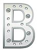 Векторный клипарт: Металлическая буква B