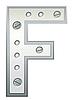 Векторный клипарт: Металлическая буква F