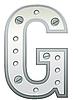 Векторный клипарт: Металлическая буква G