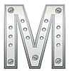金属字母M | 向量插图