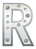 Векторный клипарт: Металлическая буква R