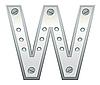 Векторный клипарт: Металлическая буква W