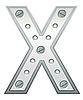 Векторный клипарт: Металлическая буква X
