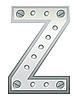 Векторный клипарт: Металлическая буква Z