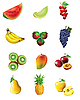 Vector clipart: Set of fruits and vegetables