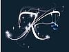 Векторный клипарт: новогодняя буквица K