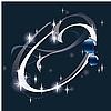 Векторный клипарт: новогодняя буквица O