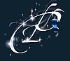 Векторный клипарт: новогодняя буквица P