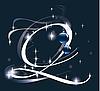 Векторный клипарт: новогодняя буквица Q