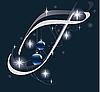 Векторный клипарт: новогодняя буквица T