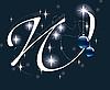 Векторный клипарт: новогодняя буквица W