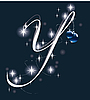Векторный клипарт: новогодняя буквица Y