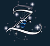 Векторный клипарт: новогодняя буквица Z