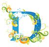 Decorative letter D