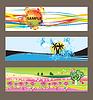 Vektor Cliparts: Set von abstrakten Hintergründen