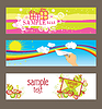 Vector clipart: Three cards