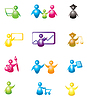 Vector clipart: Set of people icons