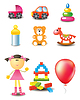 Toy icons | Stock Vector Graphics