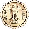 Vector clipart: Indian money coin with national symbol