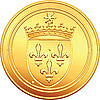 Vector clipart: gold coin French ecu obverse