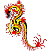 Vector clipart: Asian chinese golden dragon