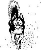 Vector clipart: dog Alaskan Malamute breed