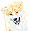 Akita Inu Japanese Dog smiles | Stock Vector Graphics