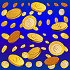 Vector clipart: golden rain of coins