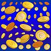Vektor Cliparts: goldenen regen von Münzen
