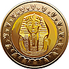 Vector clipart: Egyptian coin featuring Pharaoh