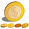 Vector clipart: set of Money Dollar