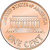 American coin one cent, penny