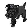 Vector clipart: black Miniature Schnauzer dog